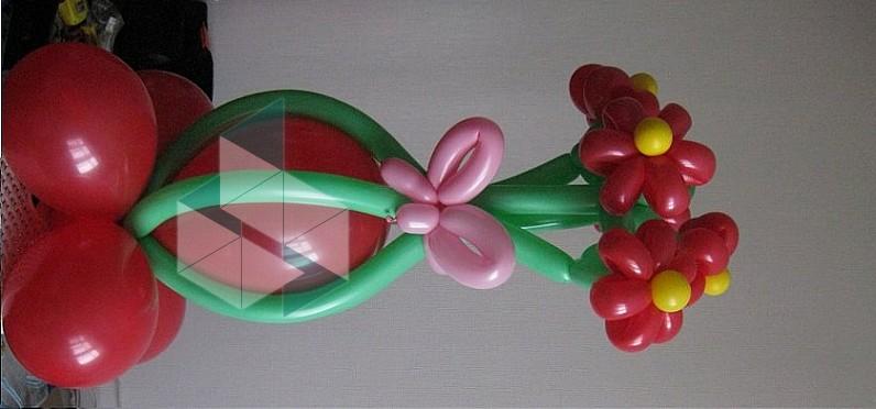 Поделки из воздушных шариков цветы 42