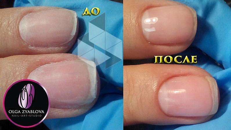Укрепление ногтей акрилом под гель лак