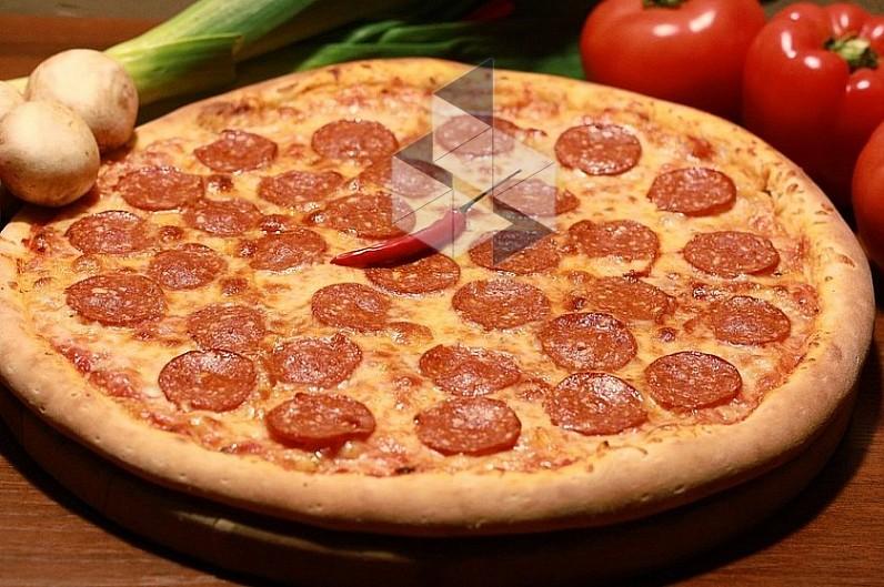 Пицца простой с сухими дрожжами