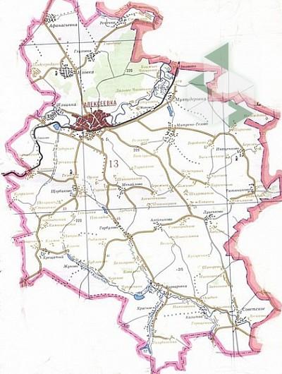 картинка карты алексеевского района тренер